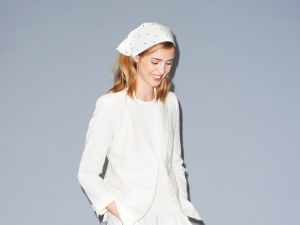 Bandana Of Outsiders: The rebellious Americana brand recommends you tie a kerchief around your hair, in the campaign images for their women's Resort 2015 collection. (Band Of Outsiders)