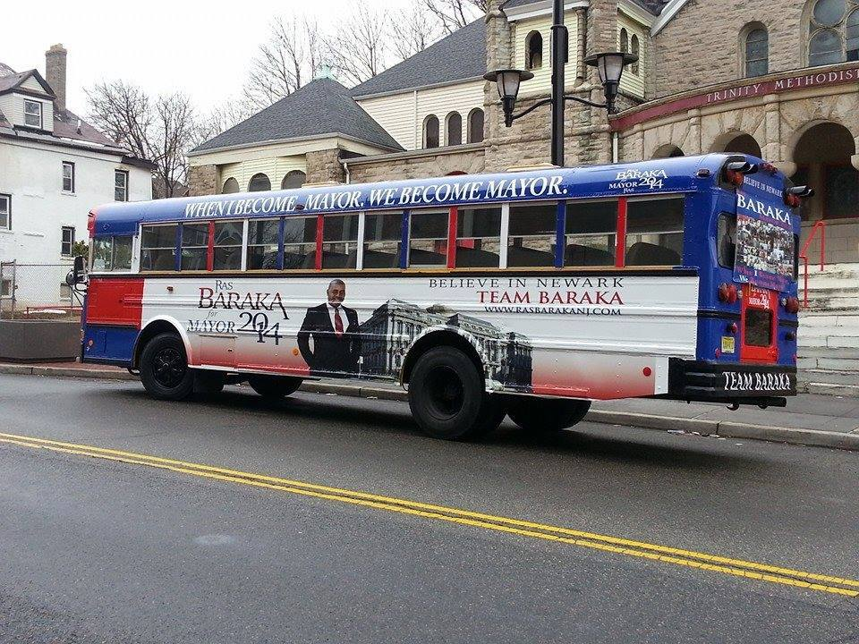 "Baraka on Newark campaign bus burning: ""I don't know who did it"""