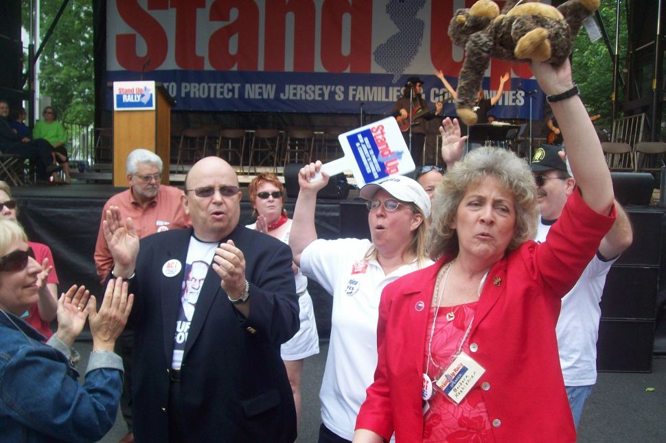 Thousands rally in Trenton against Christie cuts