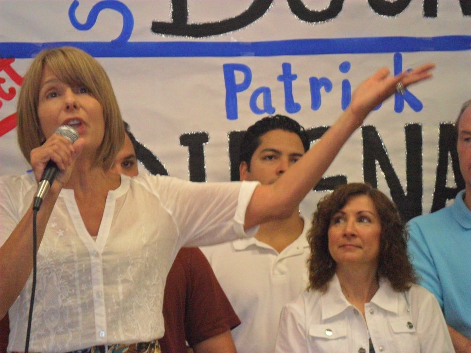 Buono targets Christie in her LD18 general re-election campaign as running mate evokes future gubernatorial run