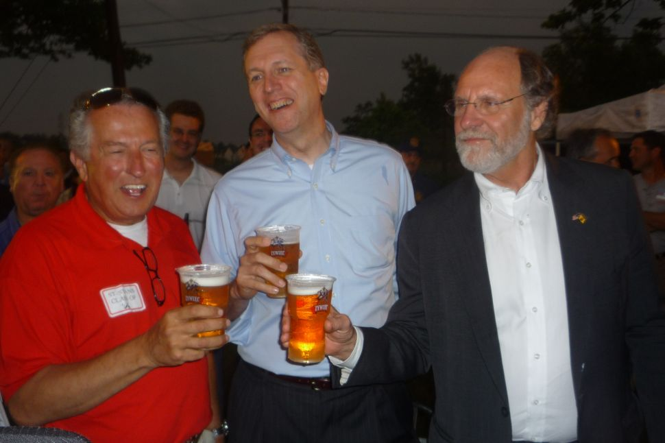 Corzine goes retail at St. Stan's in Sayreville