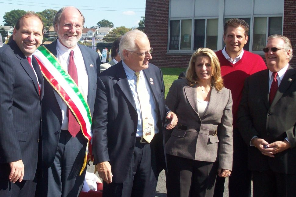 At Columbus Day parade, Corzine and Guadagno walk battle-scarred Belleville