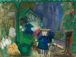 Madeline at the Paris Flower Market, 1955 Oil on canvas The Estate of Ludwig Bemelmans TM and © Ludwig Bemelmans, LLC.
