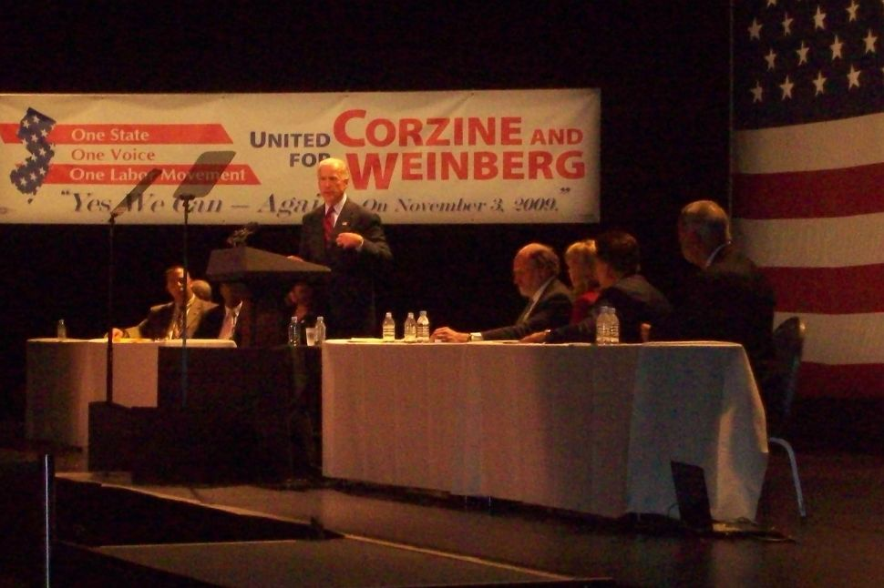 Biden drums labor for Corzine, projects confidence in Corzine victory, economic recovery