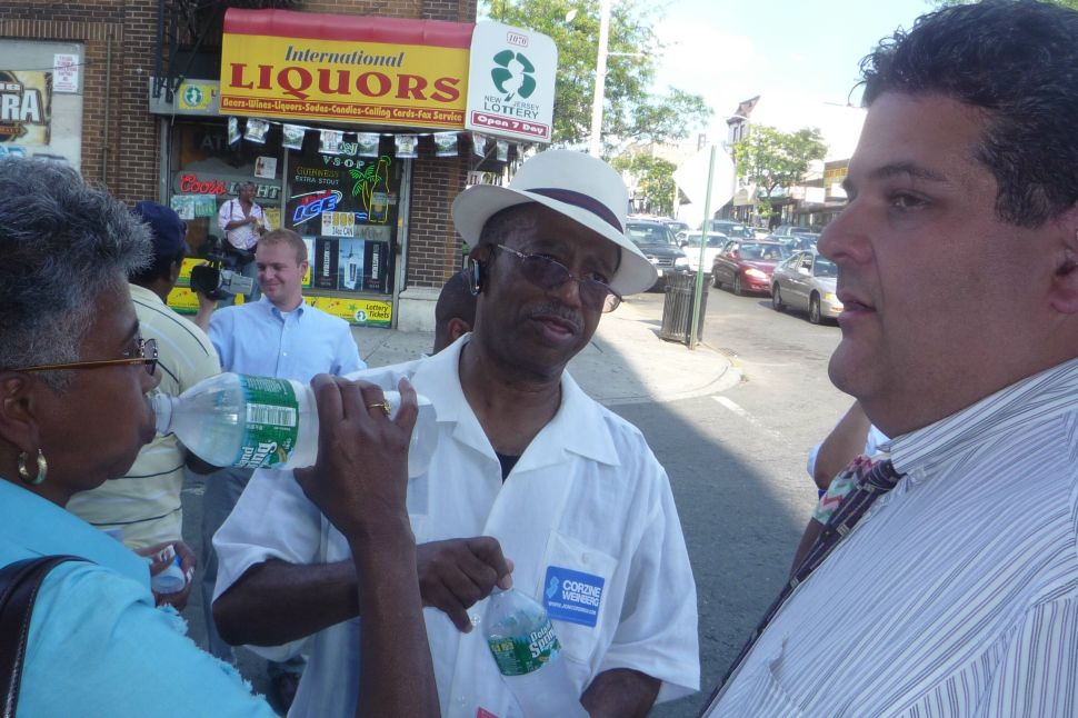 Corzine's projected numbers hold in Irvington