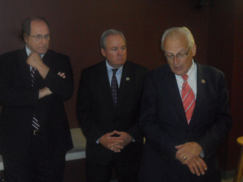 Rothman works the door from the inside, while Pascrell sets up camp outside
