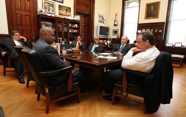 """Source: meeting between Christie, DiVincenzo and Baraka """"very, very positive"""""""