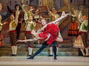 Kristina Kretova and Mikhail Lobukhin in Don Quixote. (Photographs by Stephanie Berger/for Lincoln Center)