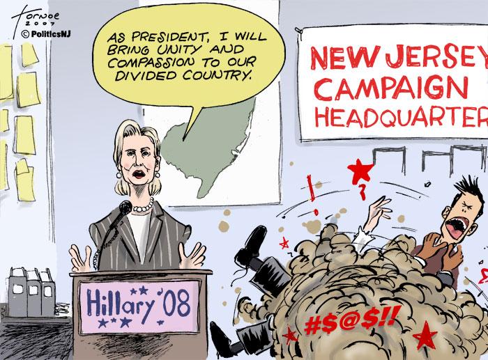 N.J. Clinton camp denies internal bickering