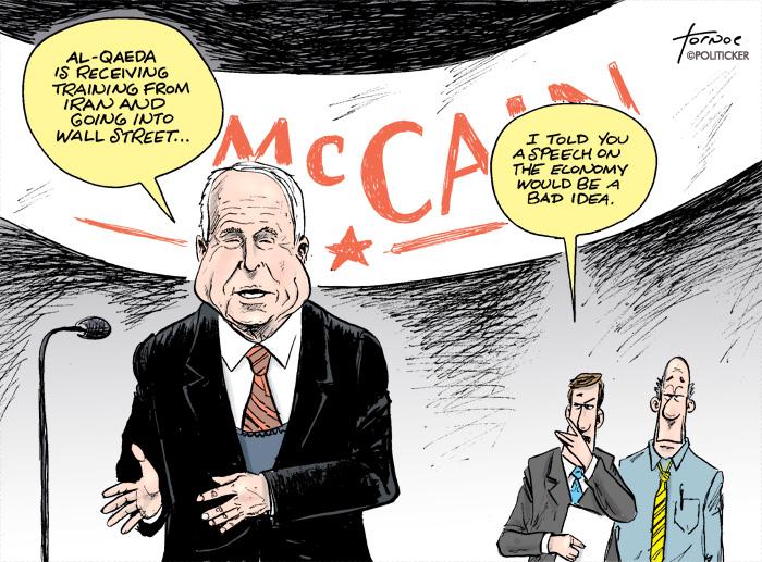 John McCain talks about the economy