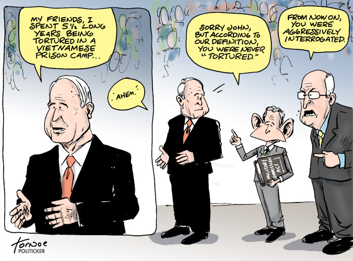 Do Bush and Cheney really believe McCain was tortured?