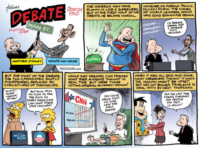Tornoe's Toons: Presidential Debate Sketchpad