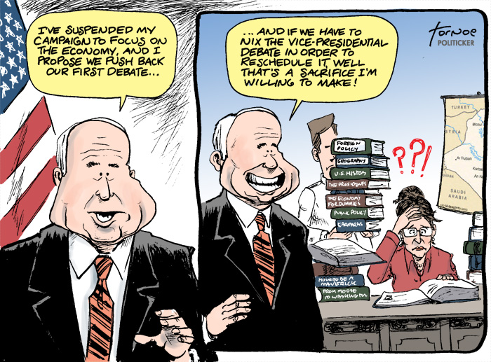 Tornoe's Toons: John McCain: 'Country First'