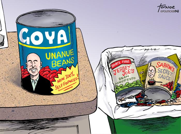 Stocking up on Goya beans