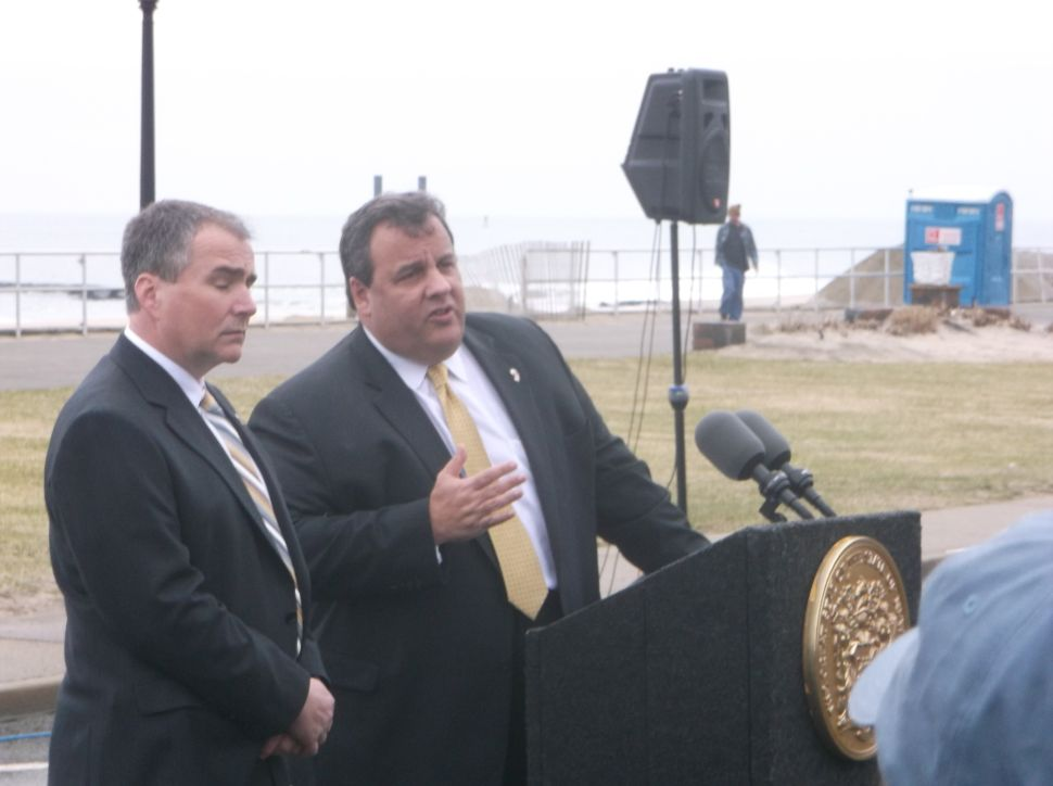 Christie talks guns from shoreline, as Lautenberg calls for high capacity mags ban