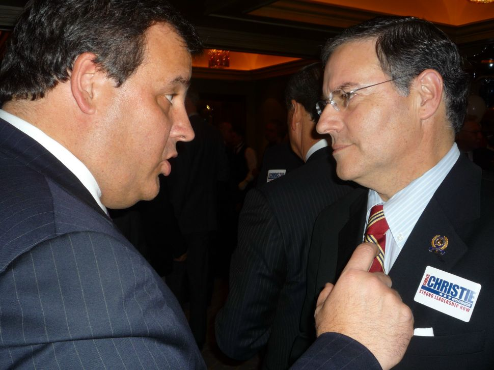 Lonegan and Merkt work Hackensack while Levine welcomes Christie to Franklin