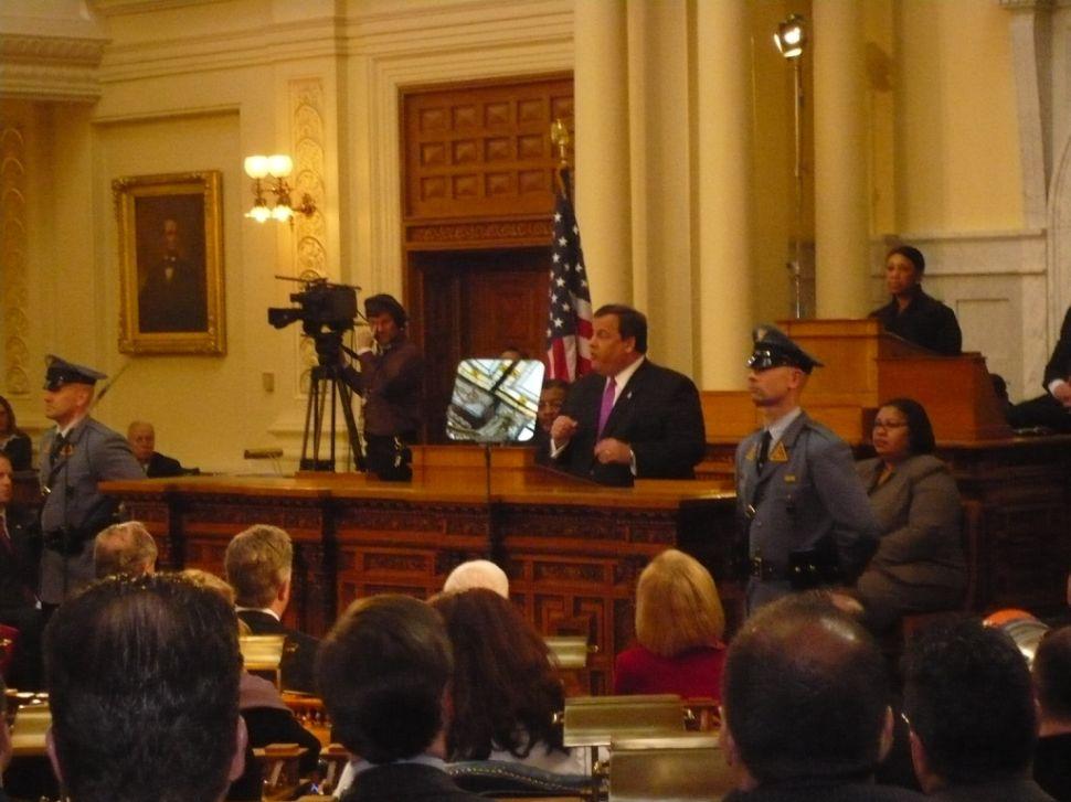Governor Chris Christie's budget address