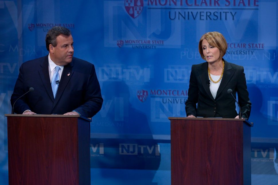 Christie says Buono is in the unions' pockets, and Buono counters