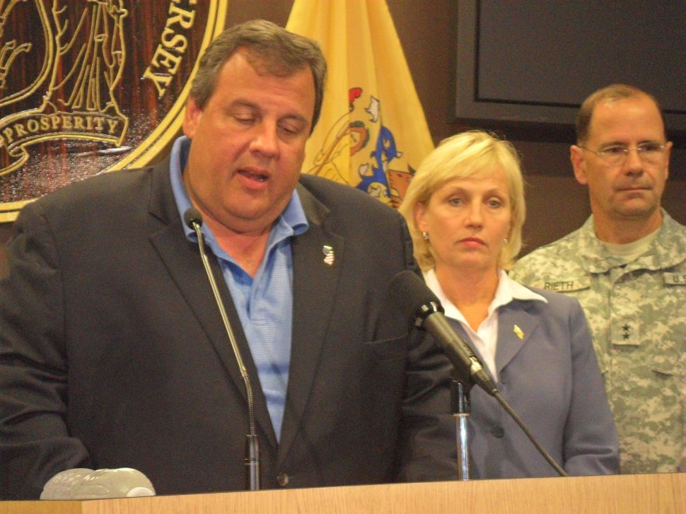 Christie: People should take no comfort that there has been a slight decrease in the storm