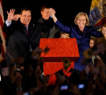 Christie's lead at around 100,000 votes