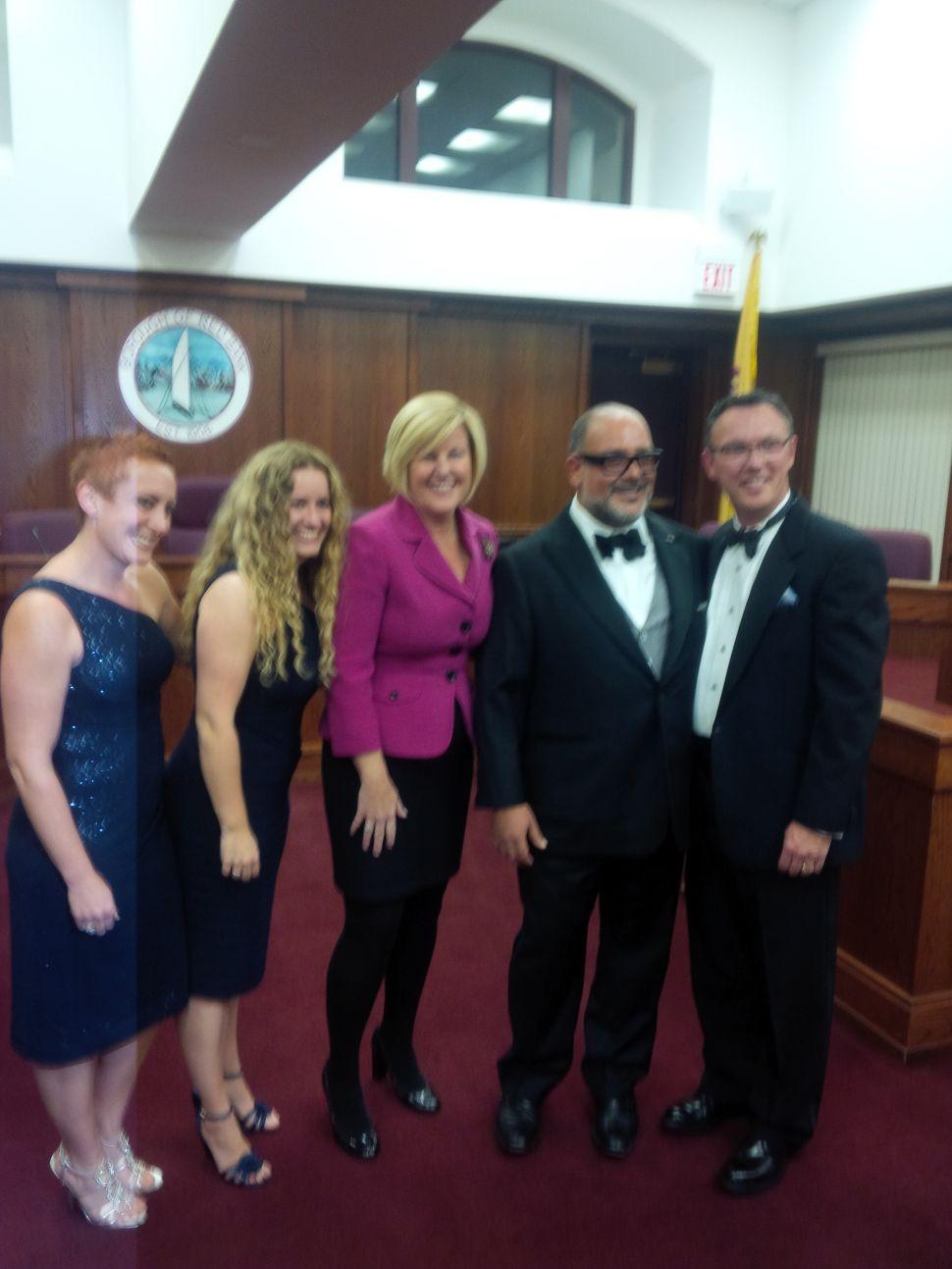 Red Bank councilman marries same-sex partner