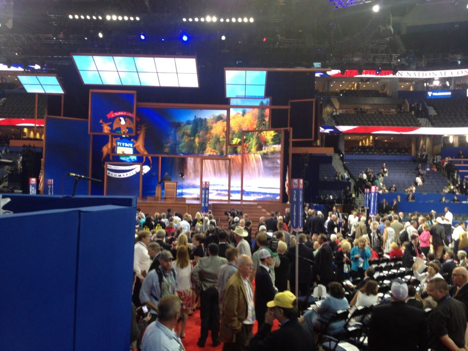 GOP Party underway in Tampa; N.J. delegates make it after bus delay