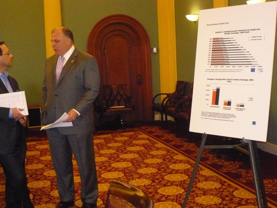 BREAKING: Sweeney yanking state benefits plan moratorium from reform bill