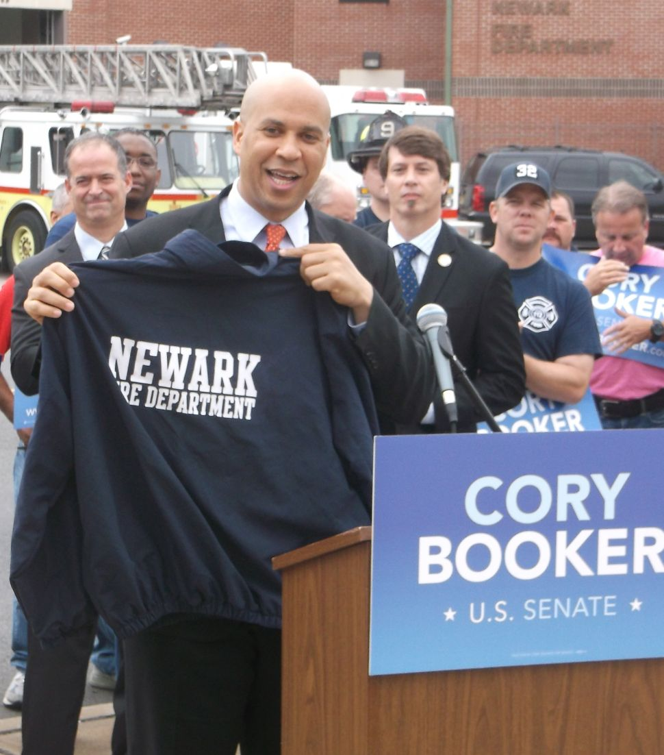 Who is the TV personality in the U.S. Senate contest? Booker says it's Lonegan