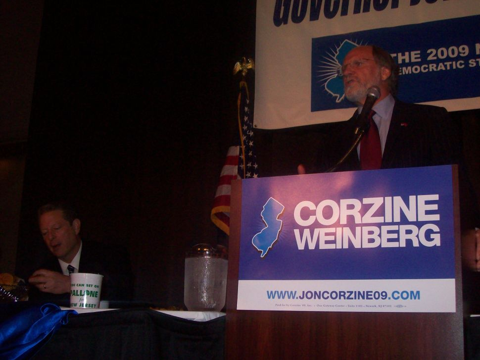Gore makes his case for Corzine