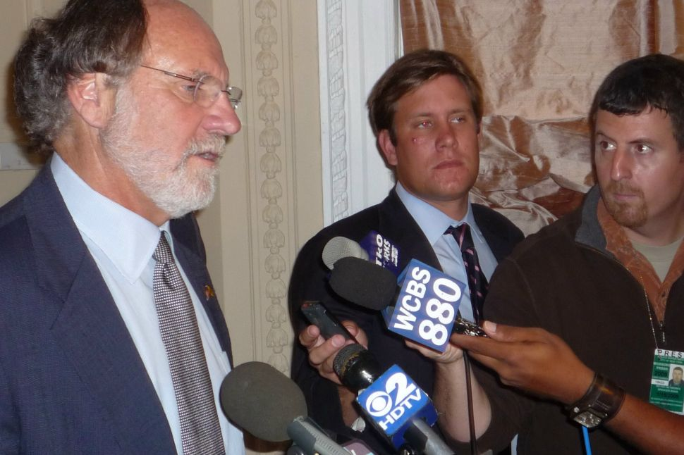 Corzine denounces GOP's 'drill, baby, drill' approach to energy