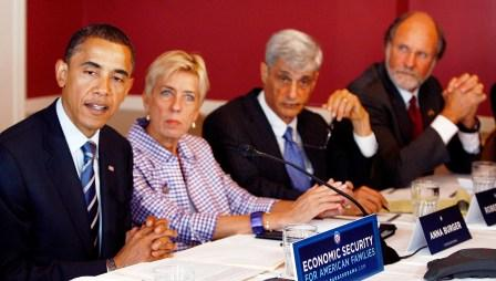 Corzine joins Obama for economic summit