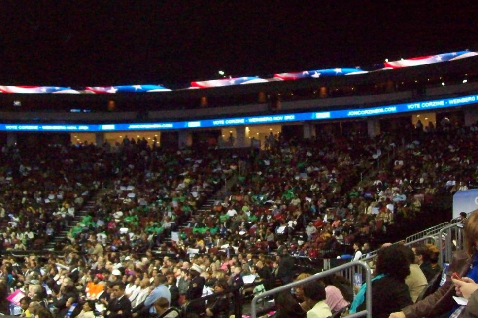 Prudential Center packed for Obama-Corzine rally