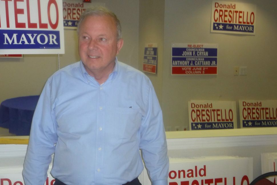 In Morristown, Cresitello brags that 'spinach is good for you'
