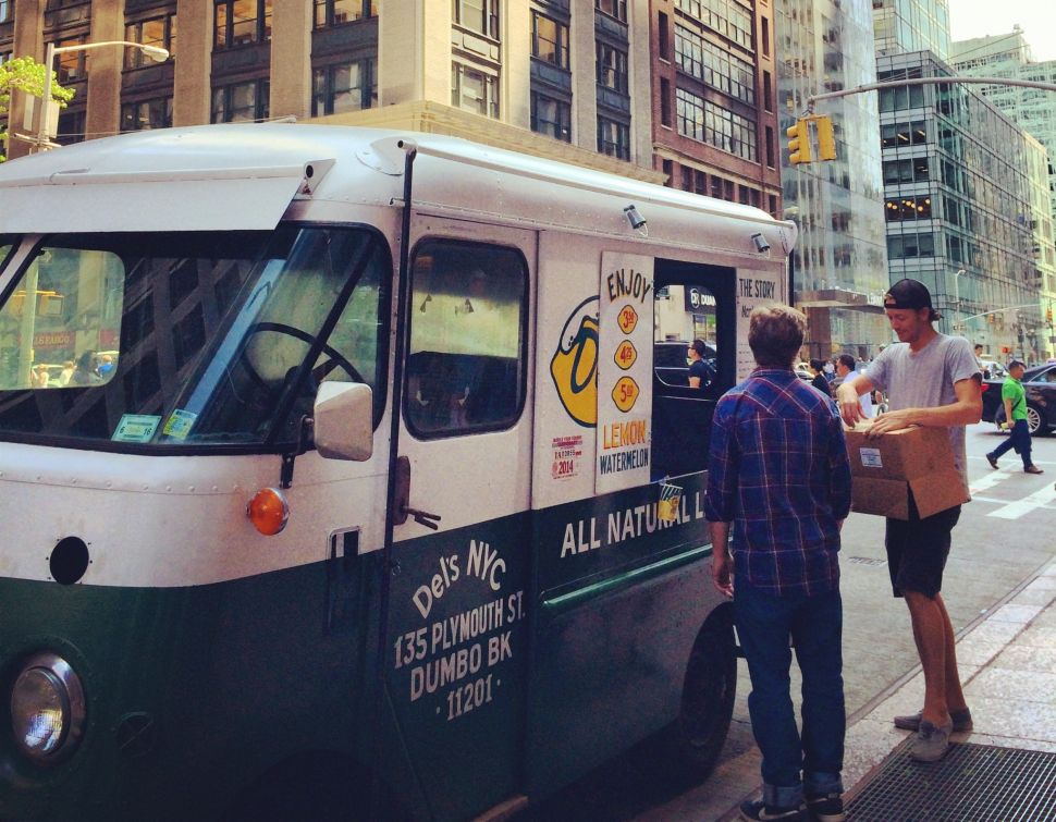 Del's Frozen Lemonade Arrives in New York to a Reception That's Anything But Icy