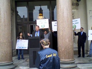 A call for clean energy at Statehouse rally