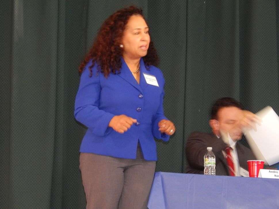 Woman candidate chastises veteran male contenders in Paterson Mayor's race