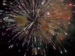 Fireworks captured via drone. (YouTube)