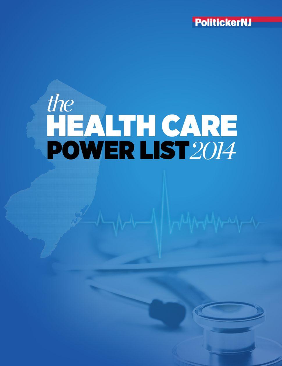 PolitickerNJ's Special Healthcare Power List