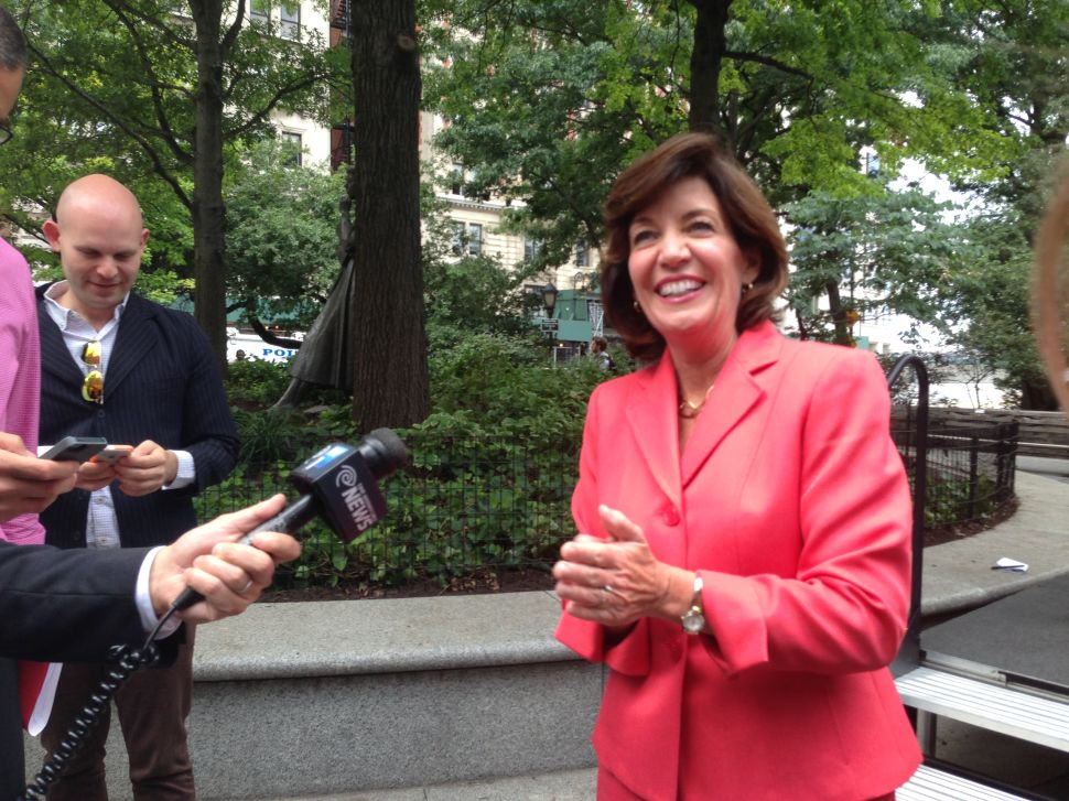 Kathy Hochul Says She Hasn't Been Hiding, Talks Immigration Stance