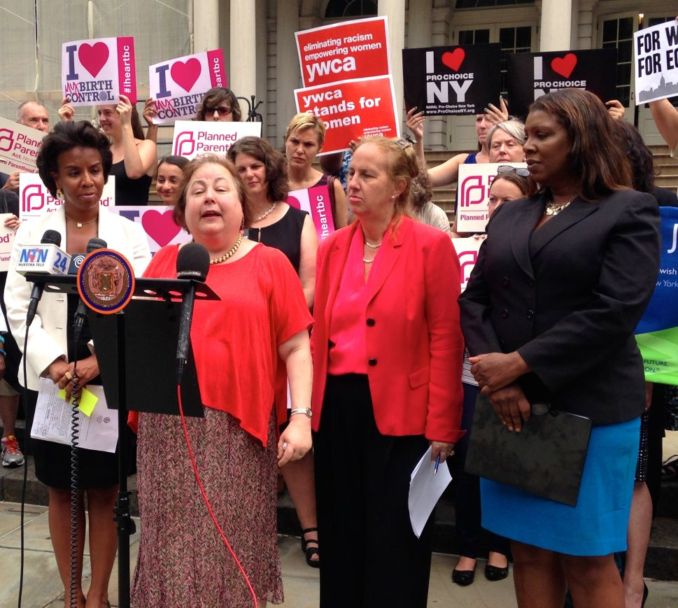 Democrats Rally in Support of Anti-'Hobby Lobby' Bill