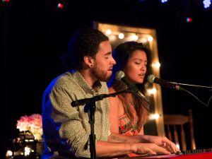 "Michael and Carissa Alvarado of Us the Duo sing ""Take Me Home."" (Kaitlyn Flannagan)"
