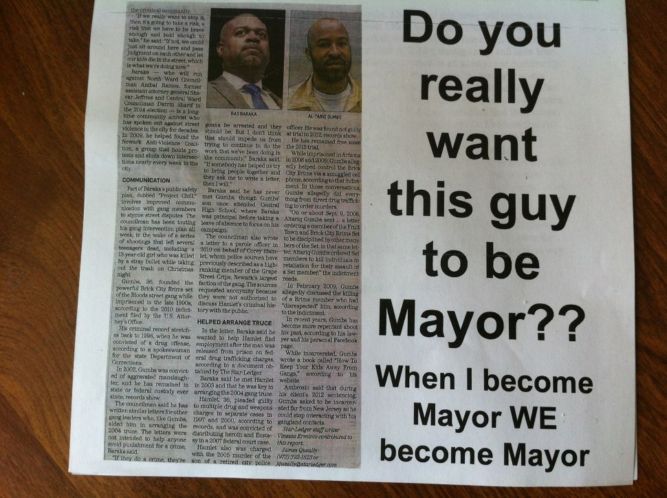 Anonymous mailers sent out ahead of Newark mayoral endorsement