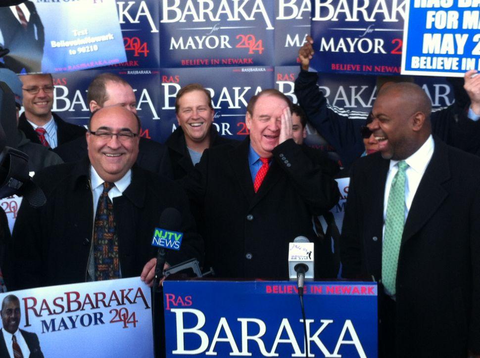 At Ironbound rally, Codey endorses Baraka in Newark mayoral race