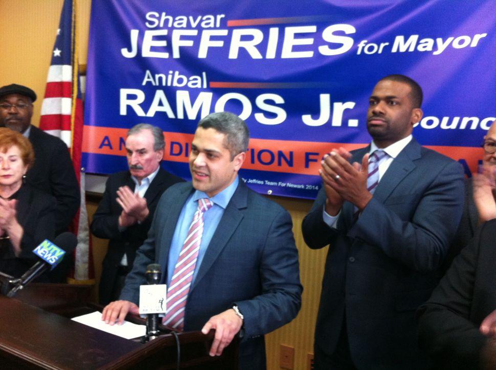 Ramos quits Newark mayoral race, endorses Jeffries