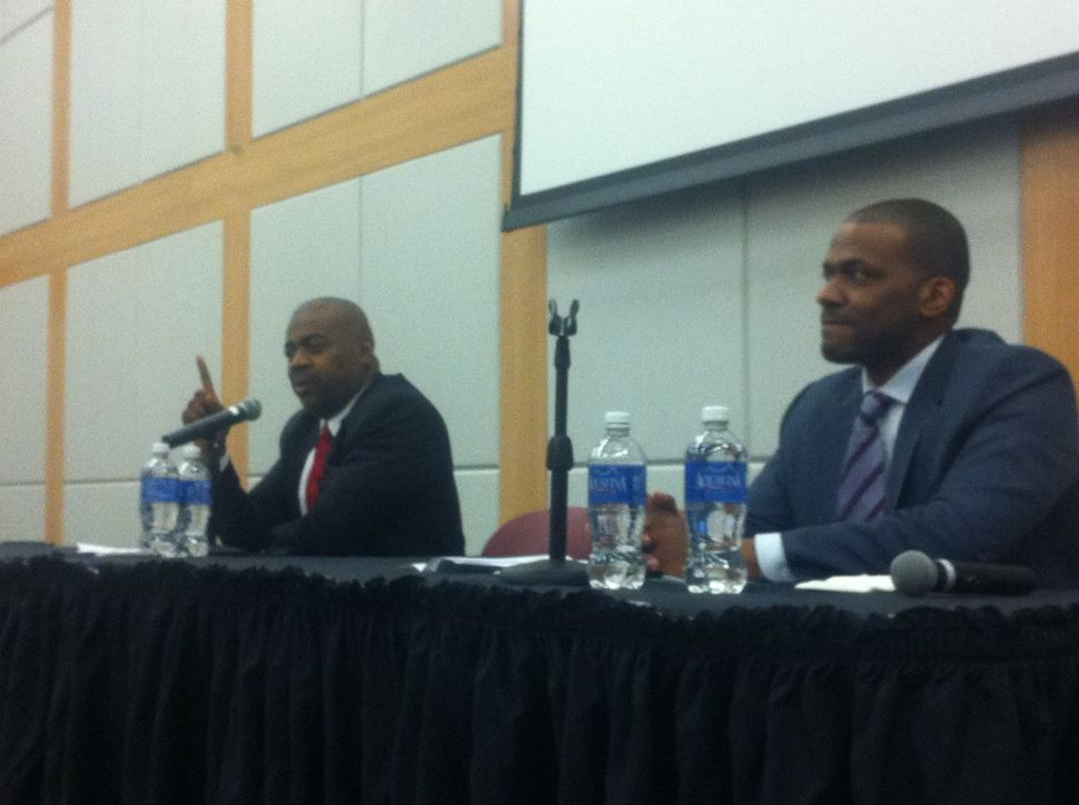 With two-man Newark mayoral race in place, Baraka and Jeffries square off on education