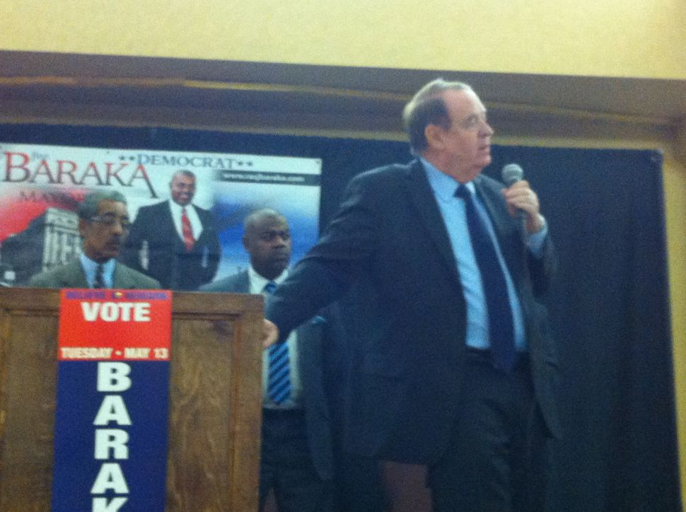 Baraka, joined by Codey and Rice, campaigns in Newark's Ironbound