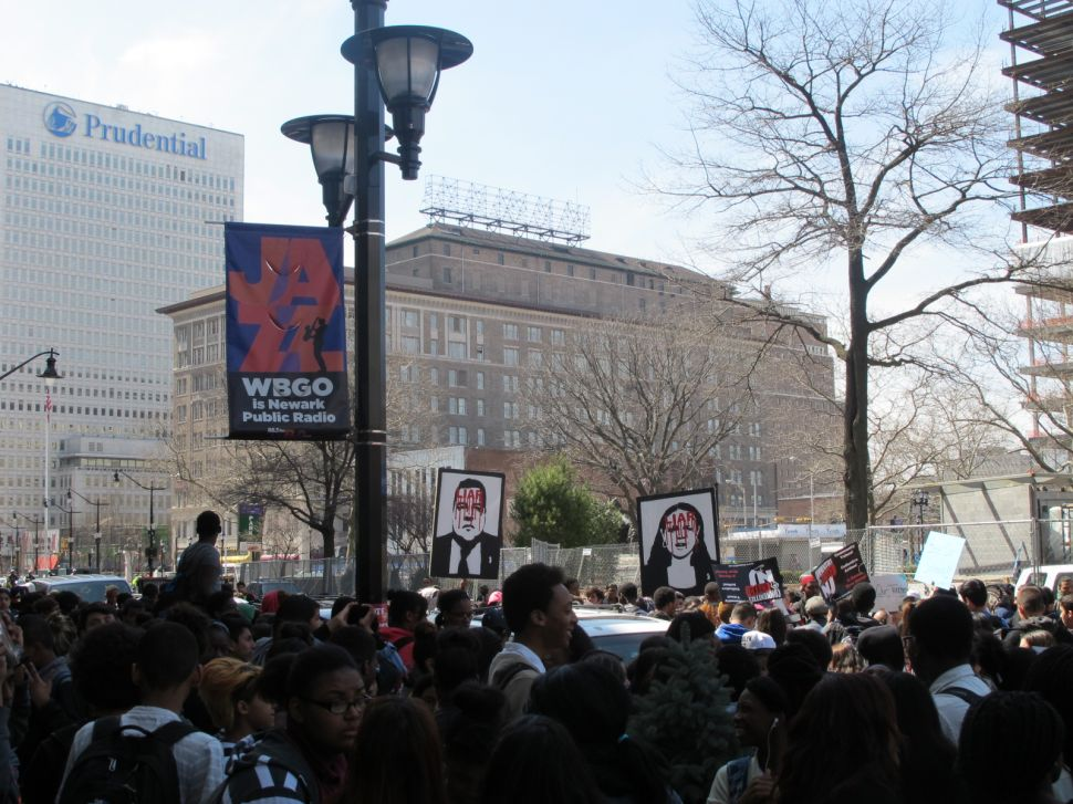Newark student protest calls for return of local control