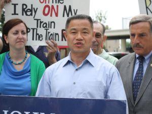 John Liu during his State Senate campaign. (Photo: Ross Barkan)
