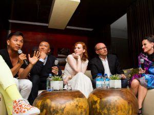"""New York is a city of misfits,"" says designer Prabal Guraug. (From left to right: Prabal Gurung, Joe Zee, Paul Haggis, Stacy Engman. Photo: Daniel Cole)"