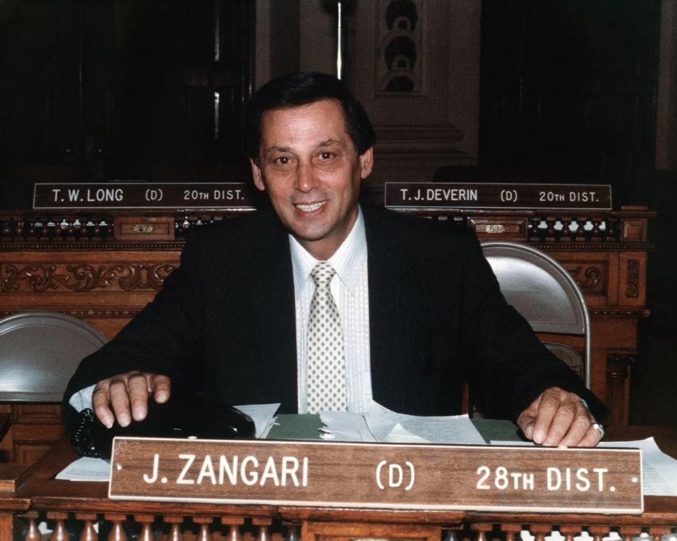 Former Assemblyman Jimmy Zangari passes